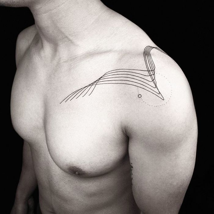 Artist Inspired By Nature And Geometric Shapes Creates Perfect Minimalist Tattoos