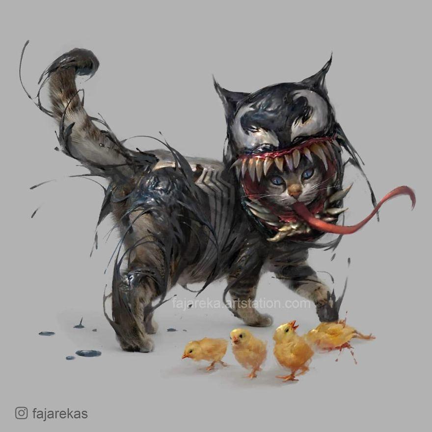 Catvengers: Cats Reimagined As Marvel And DC Superheroes By Fajareka Setiawan