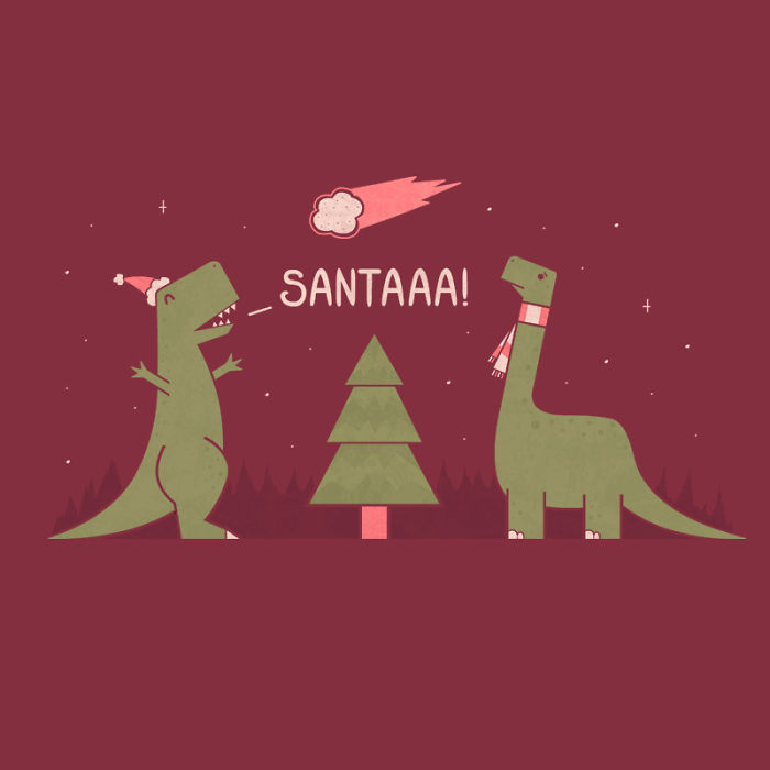 I Made Silly Christmas Illustrations To Spread Some Holiday Cheer
