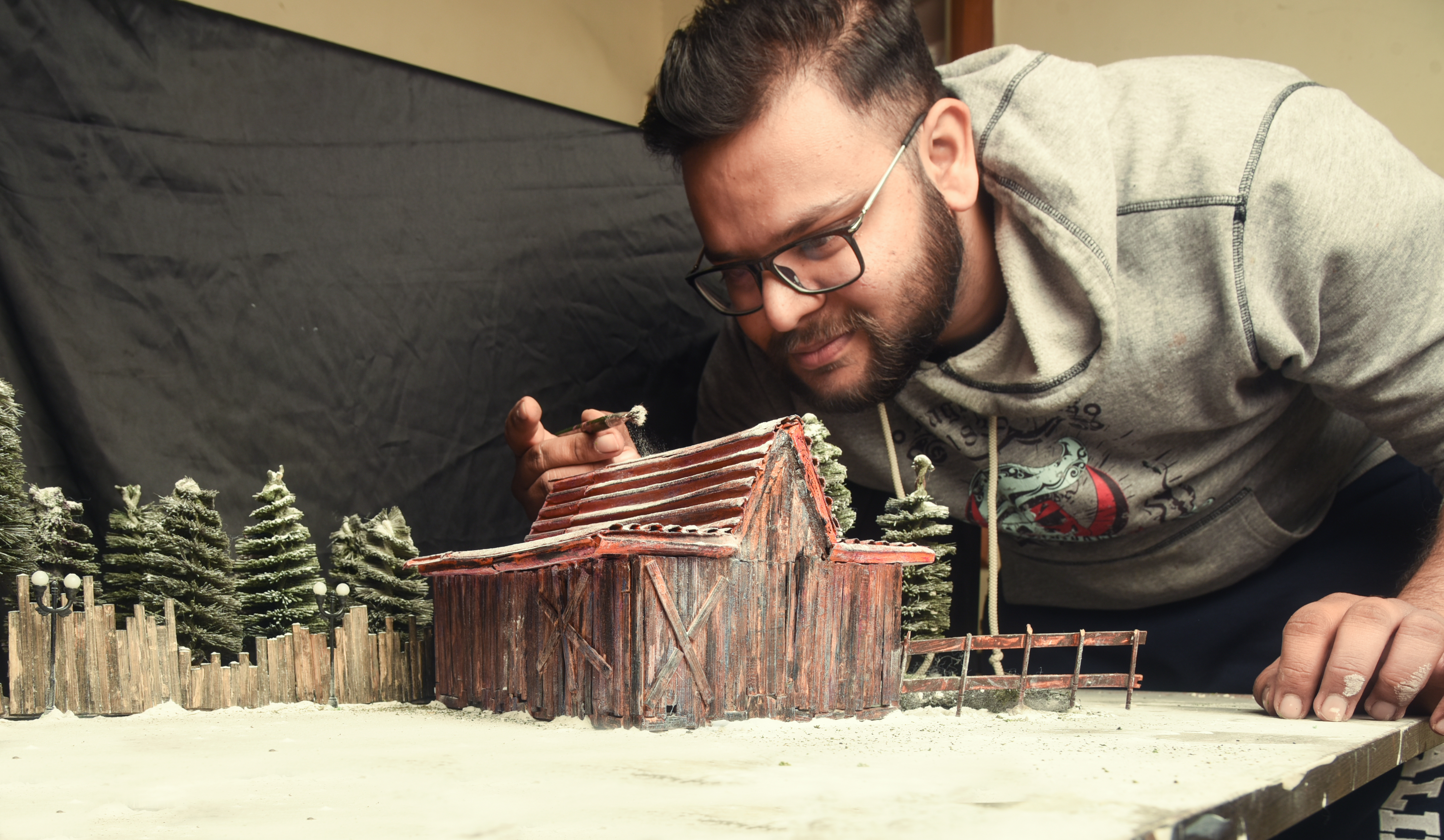 I Created Santa's Cottage And Garage.