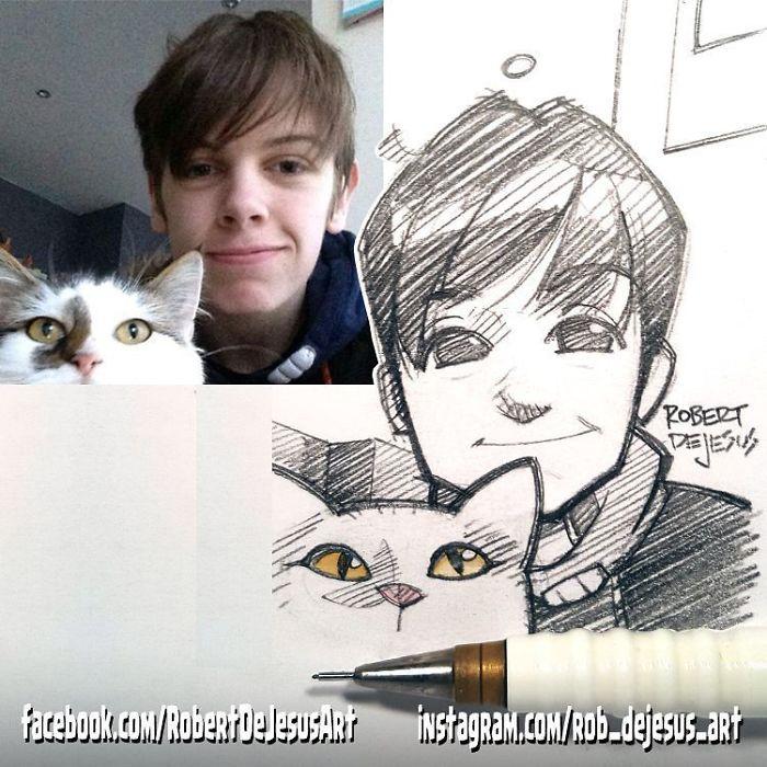 This Illustrator Turns Ordinary People Into Cartoons (New Pics)