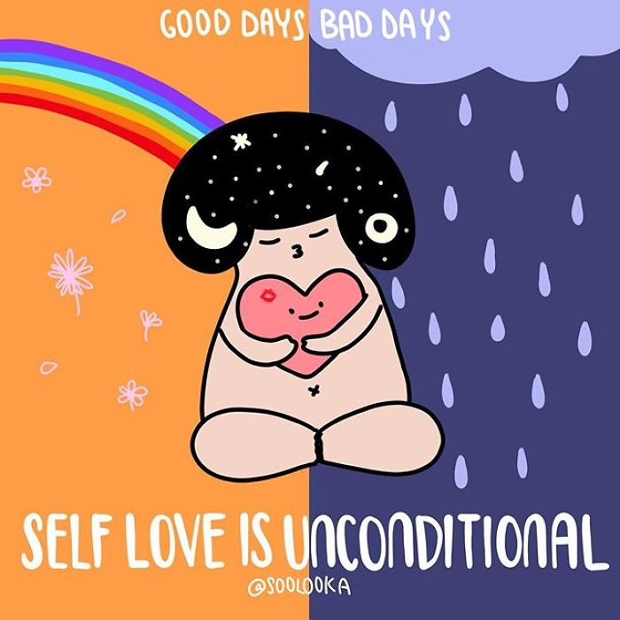 Self Love Is A Habit, It Is Unconditional, Good Days Or Bad Days, Take Good Care Of Yourself