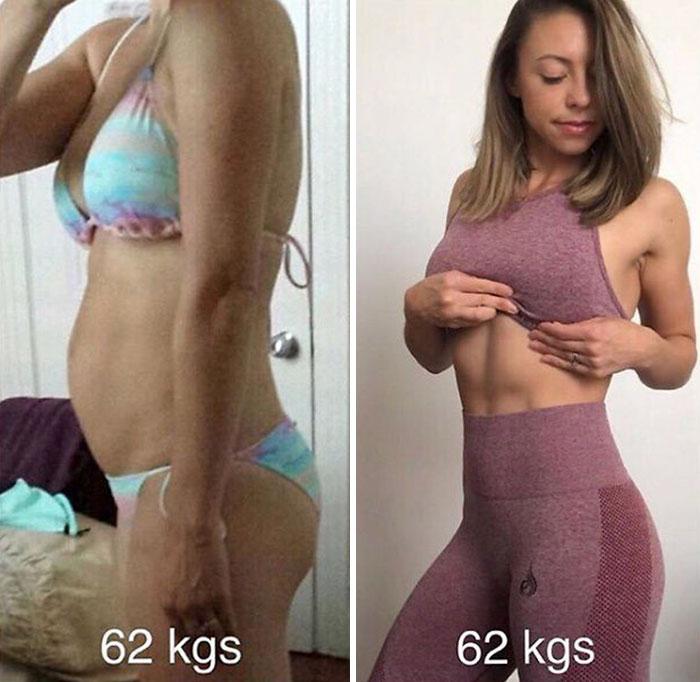 Me empecé a preocupar menos de mi peso y más de cómo me sentía