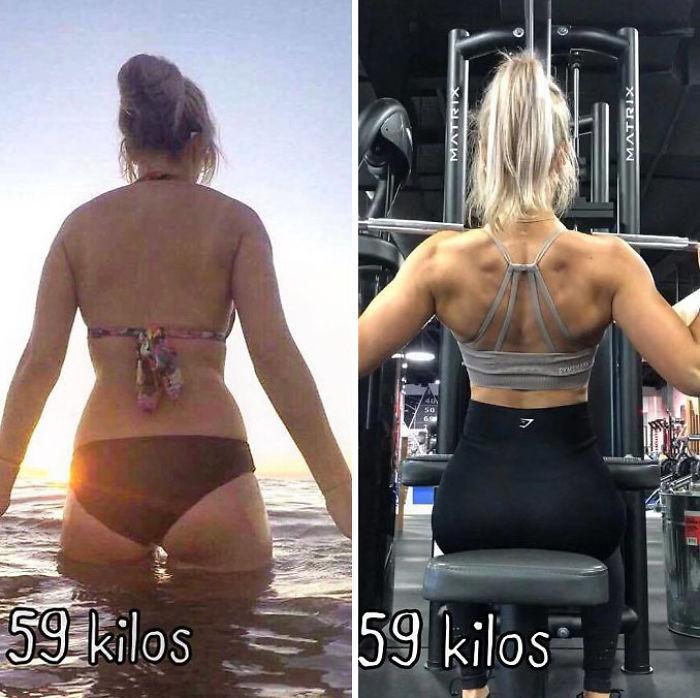 2 Jahre später und eine ganz andere Körper Zusammensetzung. Nur um zu beweisen, dass Gewicht nur eine Zahl ist