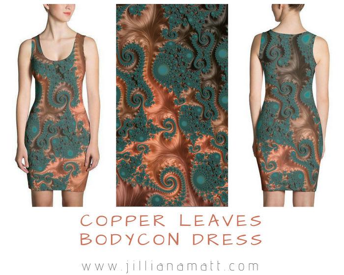 Copper Leaves – Fractal Art On Clothing
