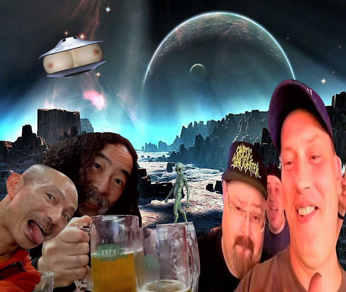 Drunk With Friends In Space….cheers!
