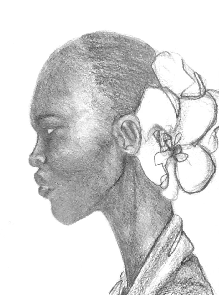 Black Woman W/ White Orchid – 2013