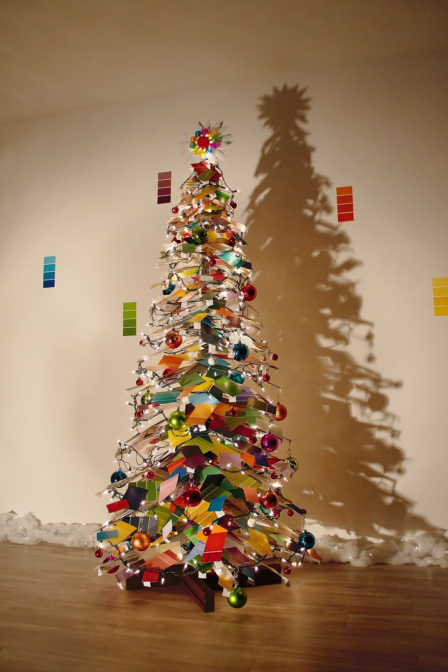 Unconventional Christmas Trees.We Made An Unconventional Christmas Tree From A Stack Of