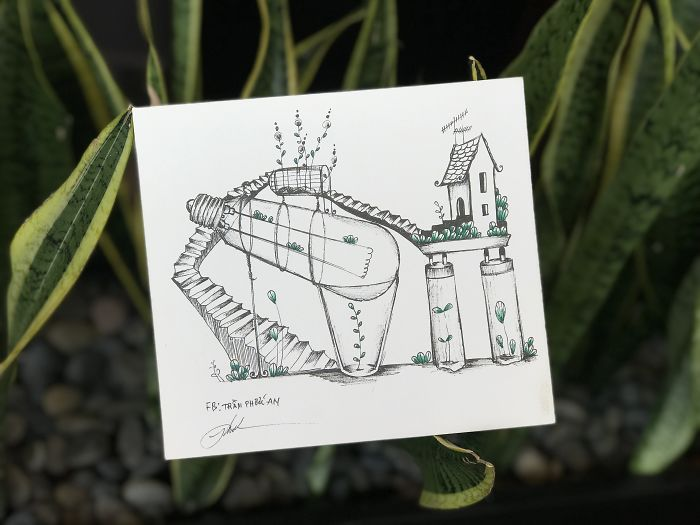 I Drew A Collection Of 9 Ideas About Mixing Plants And Home's Broken Things