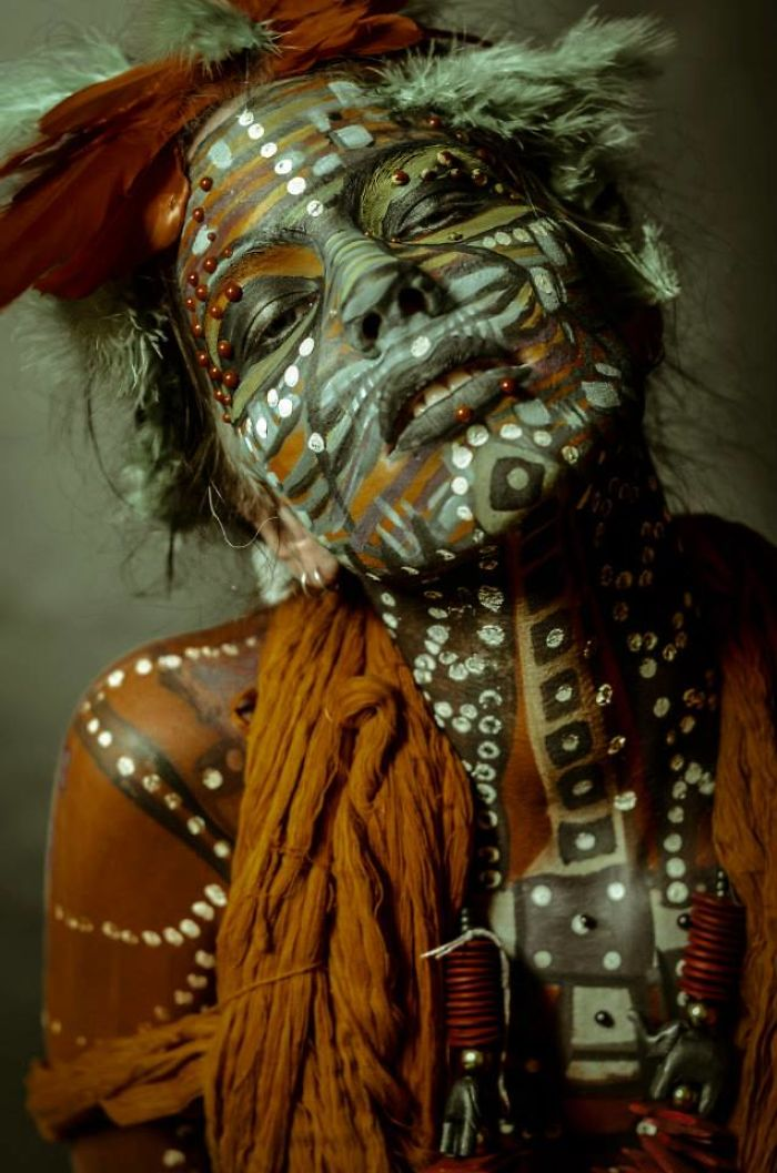Other Species – Tribal Bodyart Series After Which Artist Dedicated Her Life To Bodypainting