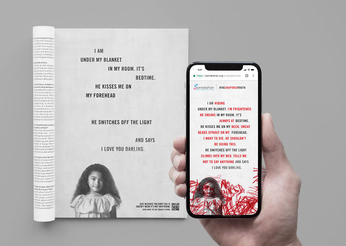 Dentsu Singapore Launches 'The Unspoken Truth' Campaign To Raise Awareness On Child Abuse Cases That Go Unreported.