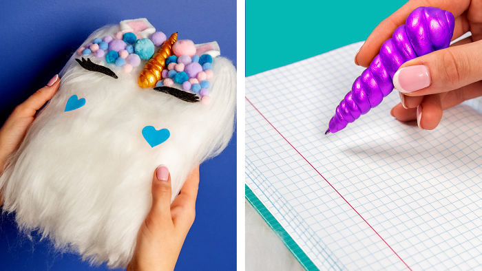 10 Fun Diy Ideas For School! School Supplies, School Hacks And More!