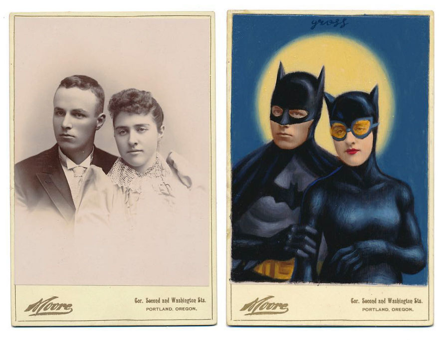 This Artist Turns Vintage Portraits Into Heroes Of Pop Culture
