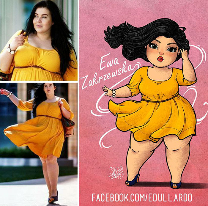Tired Of Seeing The Prejudice Against Fat Women, The Artist Decided To Make Art To Show That They Are As Beautiful As The Thin