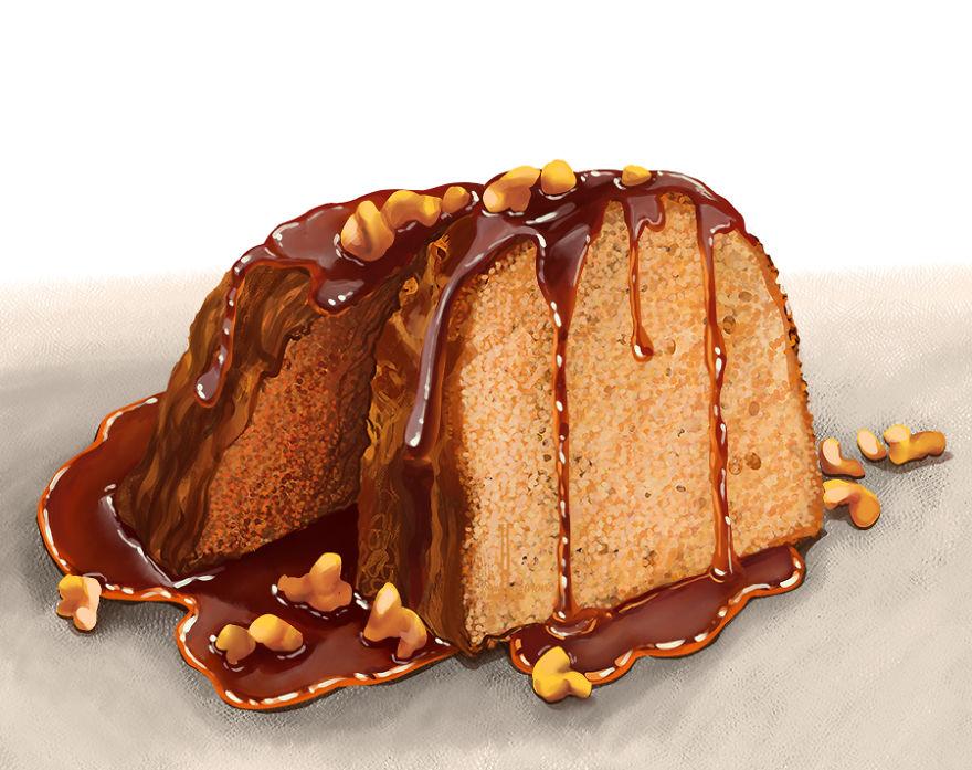 Walnut Rum Cake