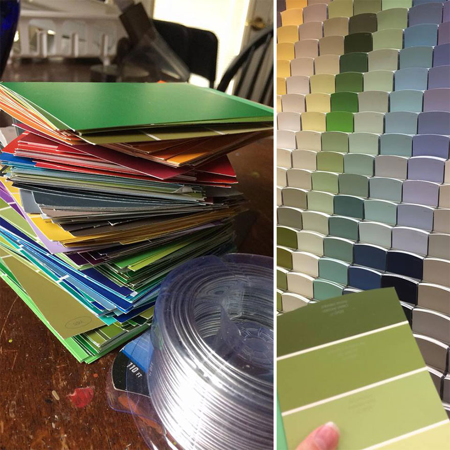Christmas Tree Colour Schemes 2014: We Made An Unconventional Christmas Tree From A Stack Of