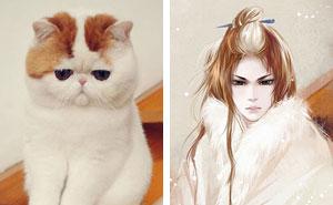 Chinesischer Künstler kreiert menschliche Versionen von Hunden und Katzen und das Ergebnis ist erste Sahne (22 Bilder)