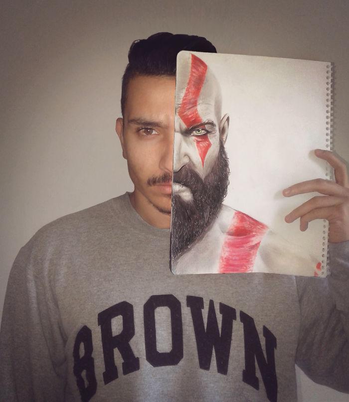 Kratos Faceoff By Ahmed Matoui