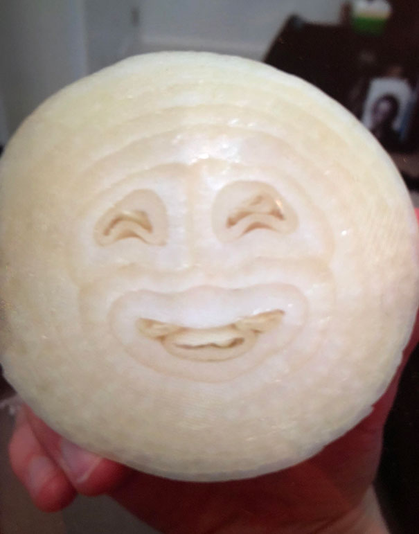 I Cut Open An Onion Only To Find A Smiley Face