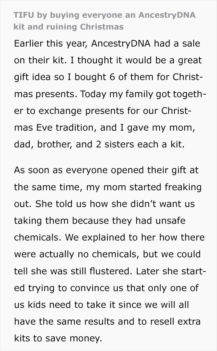 This Guy Bought His Whole Family A Dna Test For Christmas