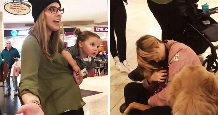 """Esta madre """"con derecho a todo"""" preguntó si su hijo podía acariciar un perro de servicio, pero no aceptó un """"no"""" por respuesta"""