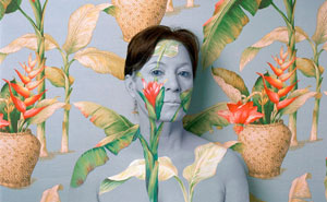 Artist Paints Her Body And Makes It Disappear Into Floral Backgrounds