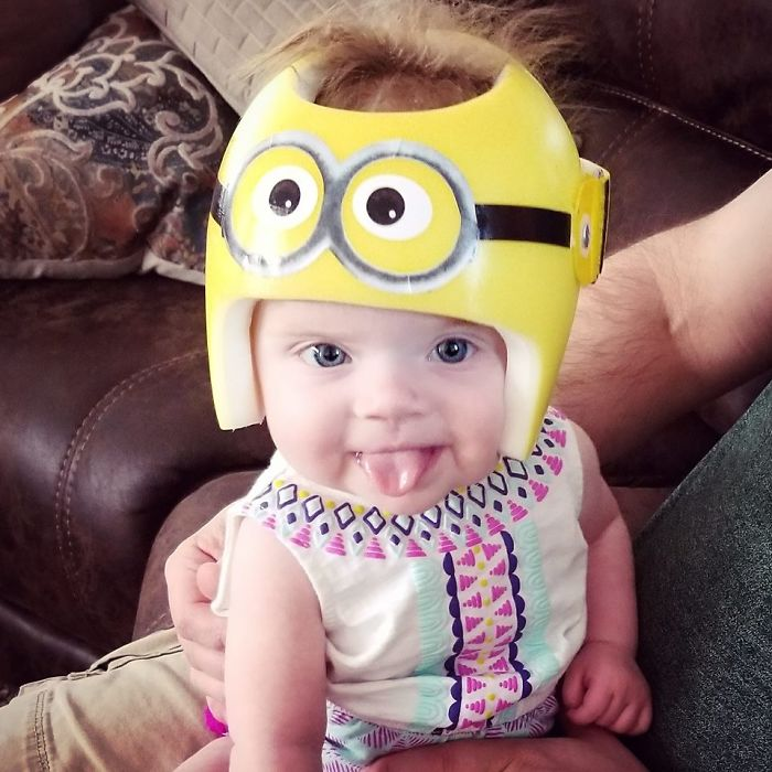 We Loved Our Little Minion! We Still Keep The Helmet On Our Shelf As A Memento- It Was Too Cute!