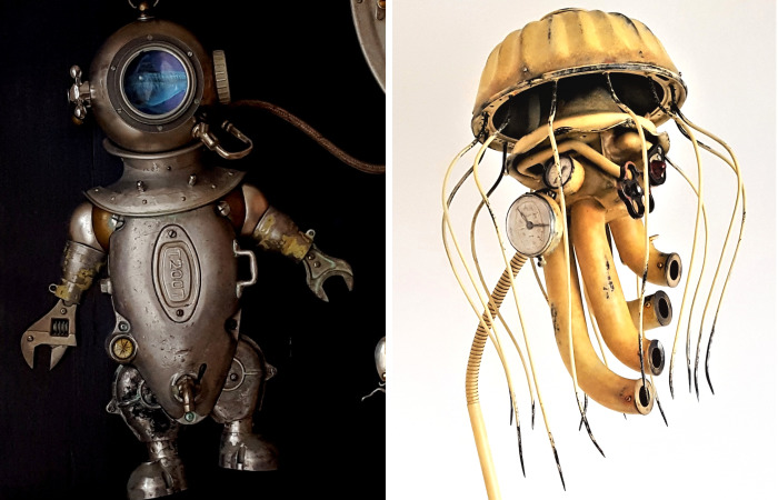 Steampunk Sculptures That I Create From Trash (New Pics)