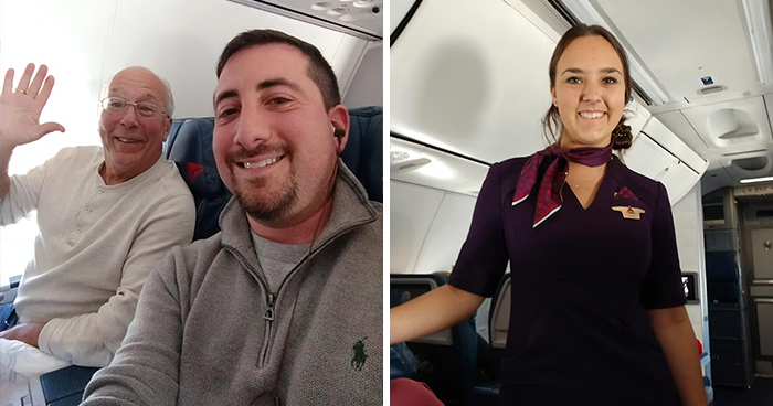 Father Books 6 Flights To Stay With His Flight Attendant Daughter On Christmas