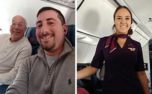 Vater bucht 6 Flüge, um Weihnachten mit seiner Tochter zu verbringen, die Flugbegleiterin ist