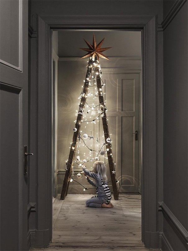 Who Needs A Traditional Tree When You Have A Ladder