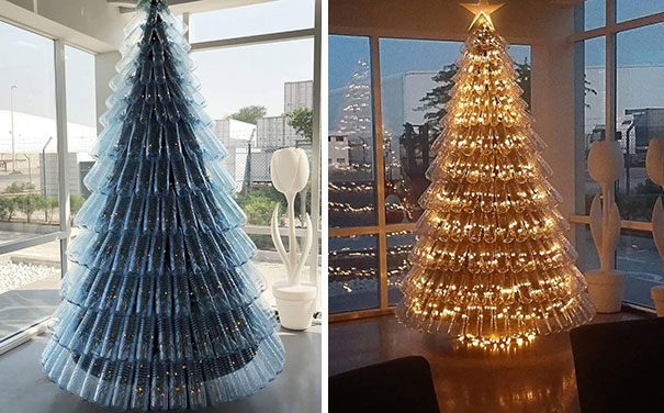 'Green' Christmas Tree From Recycled Plastic Drinking Bottles