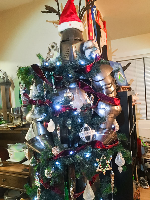 We Didn't Have Room For A Christmas Tree So We Made A Silent Knight!
