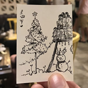 I Drew 24 Small Pictures Of Christmas Trees On My Coffee Break