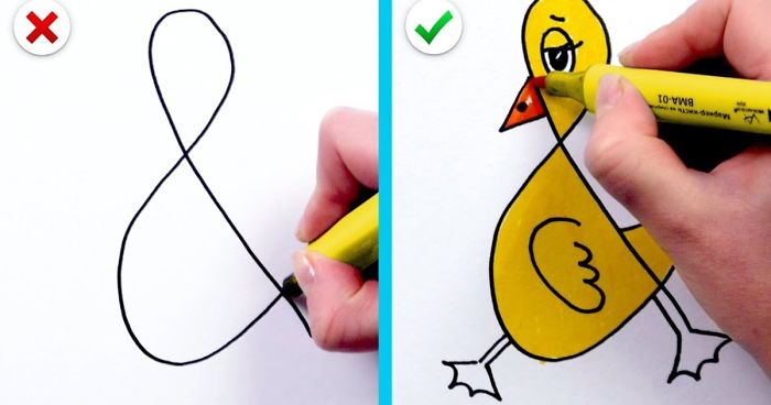 21 Fun And Simple Drawing Tricks: Easy Tips On How To Draw ...