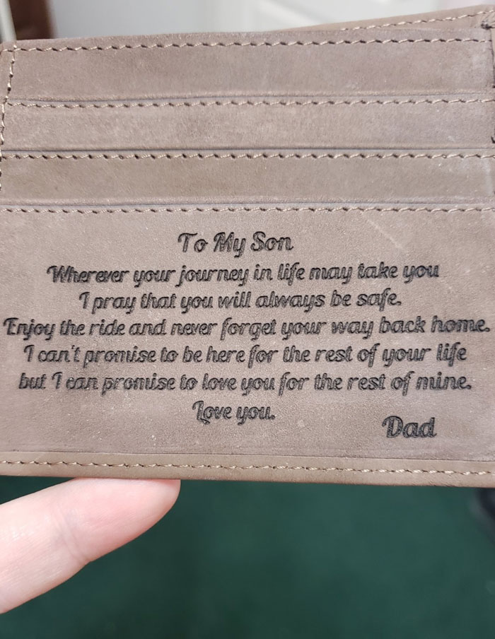 My Dad Got Me Right In The Feels Today With A Wallet