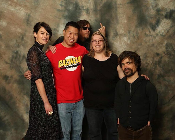 Norman Reedus Photobomb