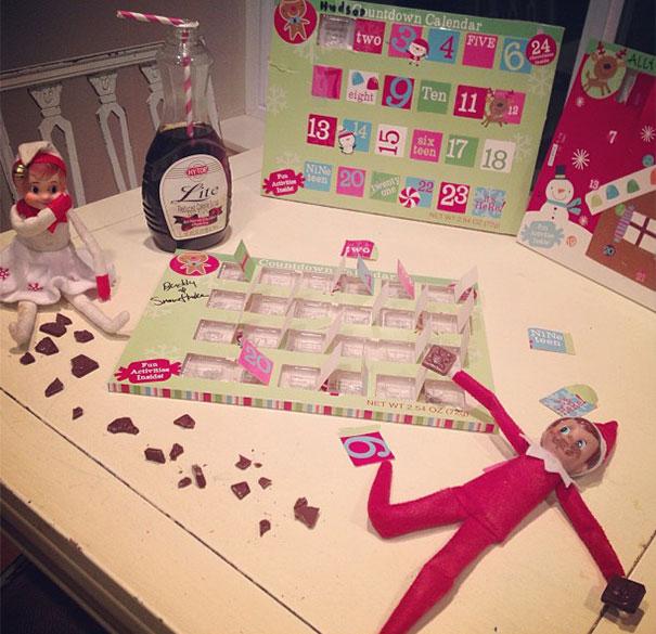 Naughty Elf On The Shelf Ate The Whole Advent Calendar