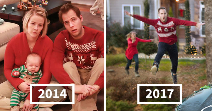 This Family Started Doing 'Real Life' Christmas Cards 5 Years Ago And They Get Crazier As The Kids Grow Up