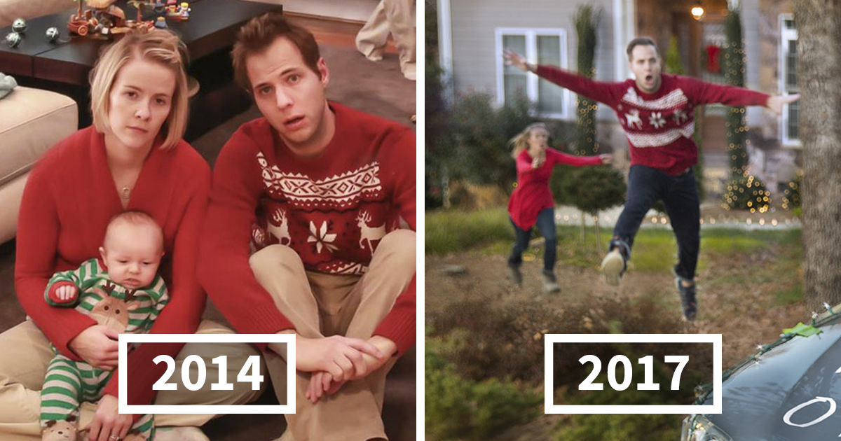 Family Sends Hilarious Christmas Cards For 5 Years With Their Boys – This Year They Have A Baby Sister