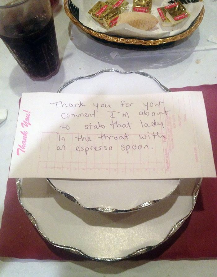 I Overheard A Rude Customer So I Told The Waitress She Was Doing A Great Job