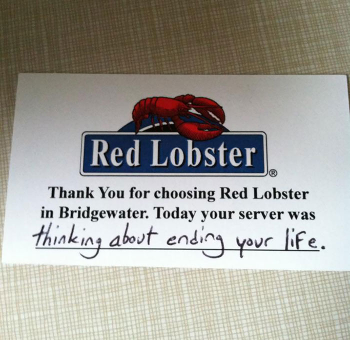 Don't Mess With Your Food Servers