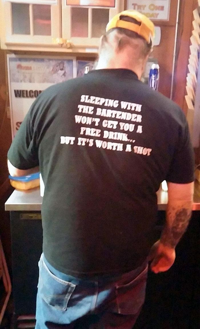 Classy Bartender T-Shirt Is Classy