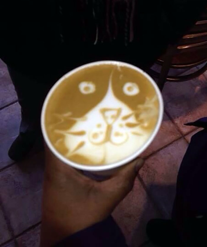"My Buddy Told Me That ""Lattes Are For Pussies"" As I Ordered One. Here Is How The Barista Interpreted What He Said"