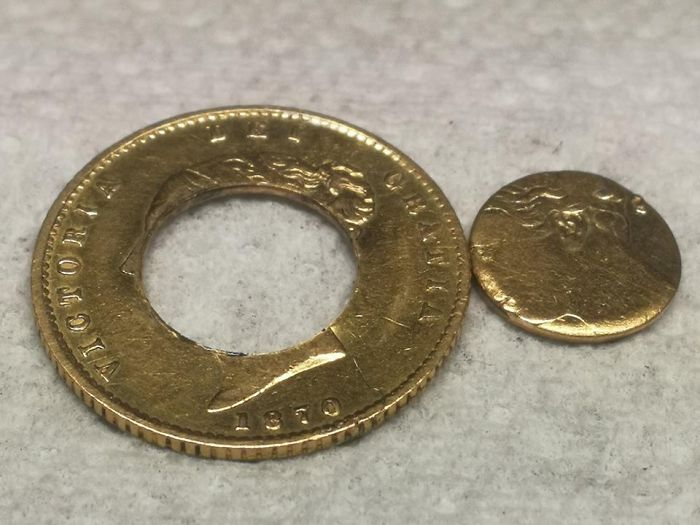 I Made A Gold Coin Ring.