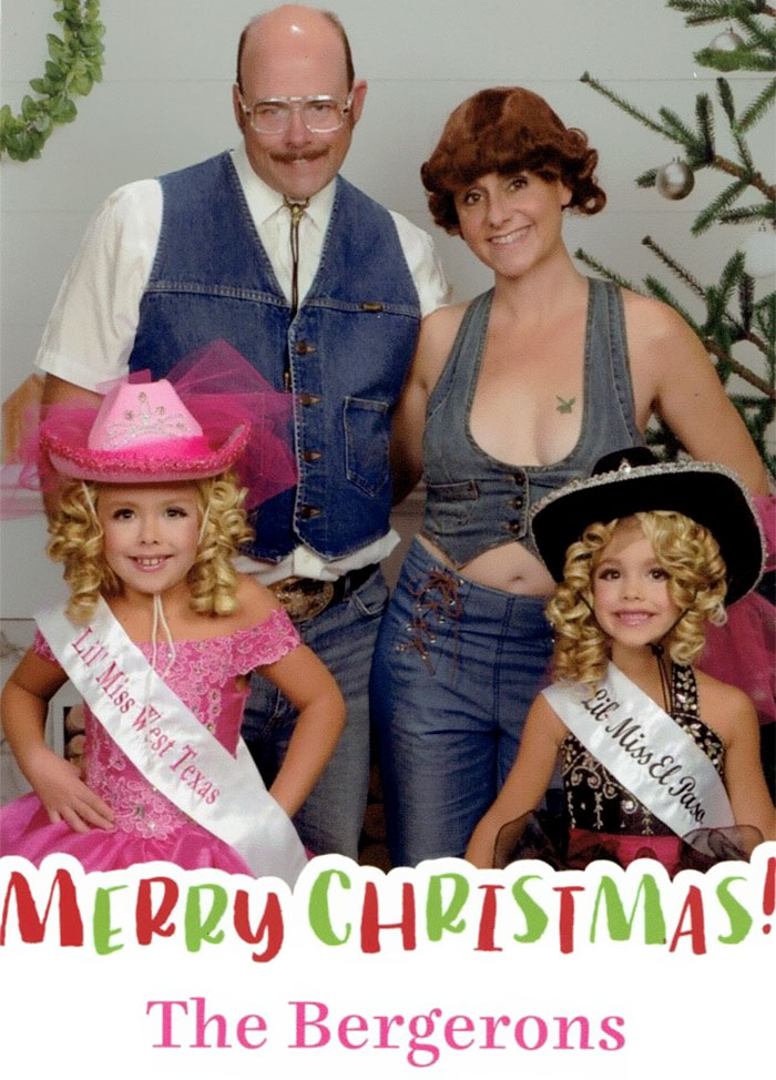 Family Sends The Most Awkward Christmas Cards For 16 Years, And It's Too Funny