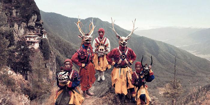 Masken Tänzer, Paro, Bhutan