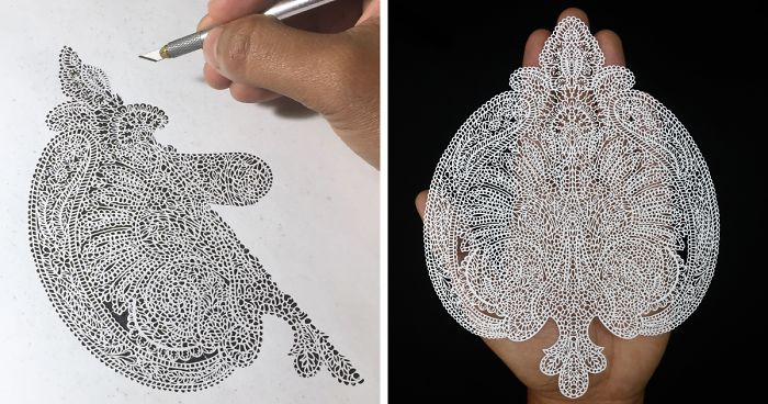 b13a60295 I Create Intricate Paper Art: Each Paisley Cutout Took At Least 7 Days To  Complete