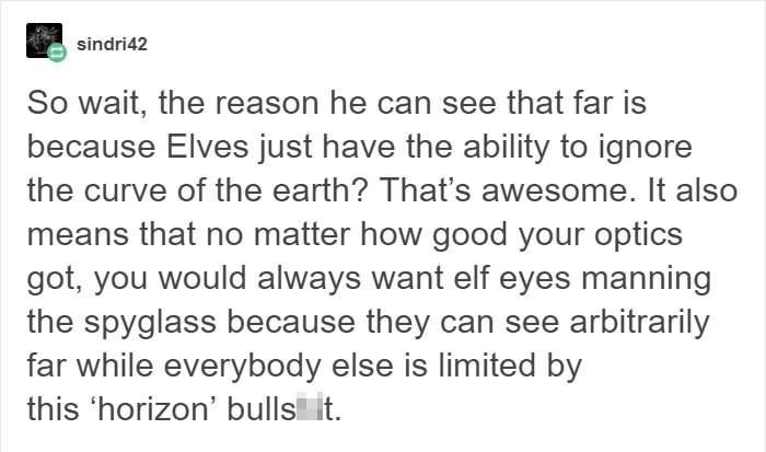 Tumblr User Explains Why Elves' Eyes In Lord Of The Rings