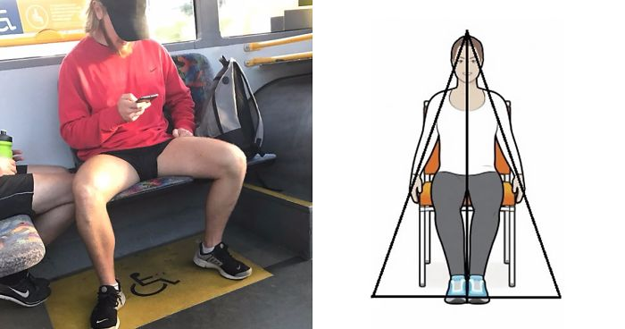 Guy Calls Out Anti-Manspreading Campaigns For Being Hypocritical
